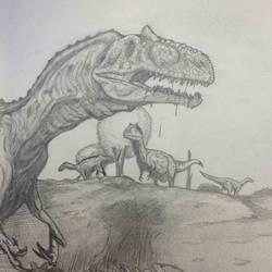 Allosaurus  by Dinomorph5000