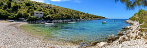 Brbiscica Beach Panorama by travelie