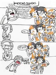 Moron's Olympics by nowherelittlegirl