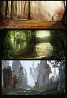 some worlds by JulioDionizioArt
