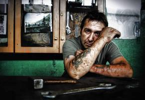 Portrait in work.5 by GDALLIS