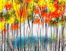 Watercolors of Autumn  by Vera52