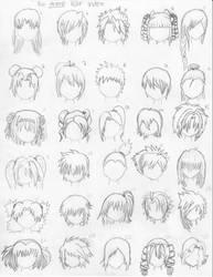 The Anime Hair Index by xxangelsilencex