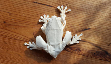 Origami: Tree Frog by p4ndor4TheBox