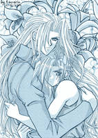 He is MINE Sephiroth + Cloud by lucrecia