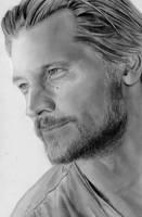 Jaime Lannister (Nikolaj Coster-Waldau) Drawing by bel17b