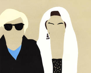 Andy Warhol and Edie Sedgwick Minimalism by bel17b