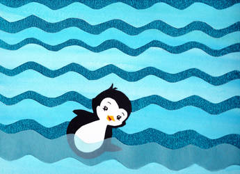 Swimming Penguin by bel17b