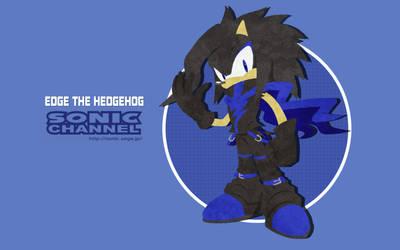 Commission EdgeTenebris: Edge the Hedgehog 2017 by ShockRabbit