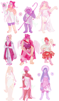 OPEN Watercolor Rose Quartz Adopts by BromocresolGreen