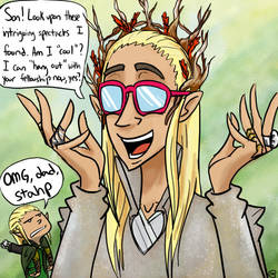 Thranduil- Middle Earth's Most Embarassing Dad by MuffinMoip