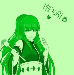 CrazyNEKO_MIDORI (speedpaint) by dyddycat