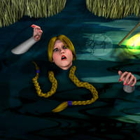 King's Quest IV - Rosella Sinks in the Quagmire 3 by perilsofdawn