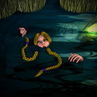 King's Quest IV - Rosella Sinks in the Quagmire 4 by perilsofdawn
