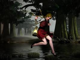 King's Quest IV - Rosella Hop! Hop! Hop! by perilsofdawn