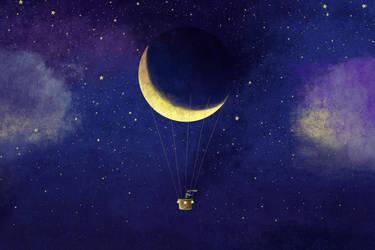 Lunar Flight by roweig