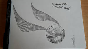 Inktober 2017 Snitch by MoonPanBlue