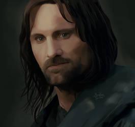 Aragorn son of Arathorn by MoonPanBlue