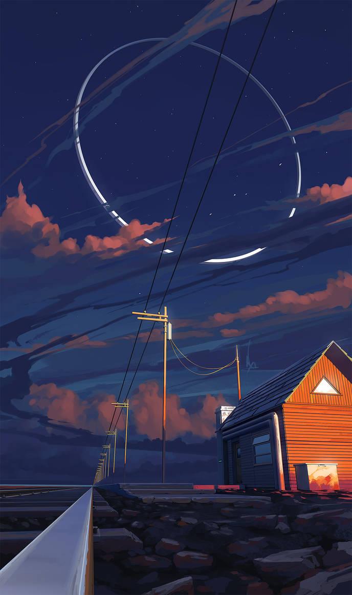 in the sky by RomanRazgriz