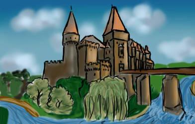 Hunyad castle by LadyMalande