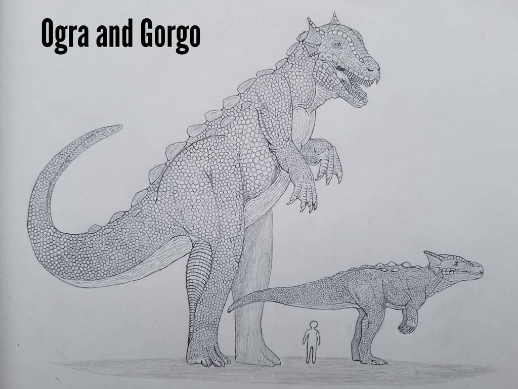 MonsterIslandEpanded: Ogra and Gorgo by Trendorman