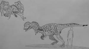 Monster Island Expanded: Dilophosaurus ingens by Trendorman