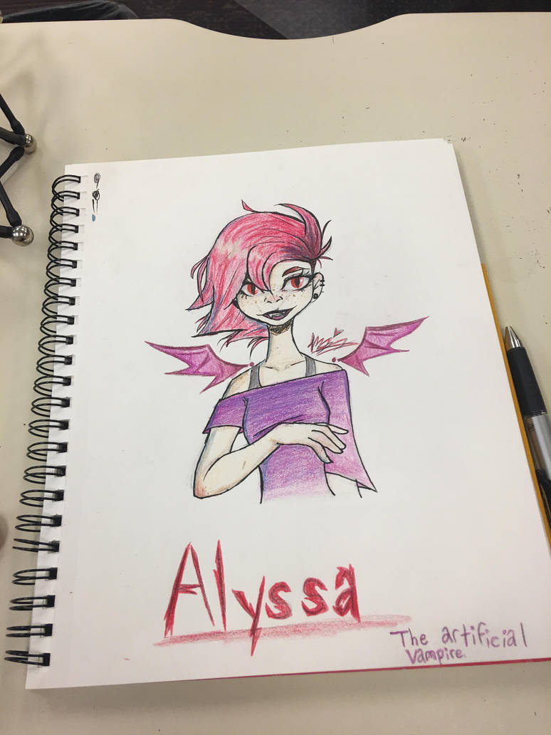 Alyssa the artificial vampire  by flamflamy-artz