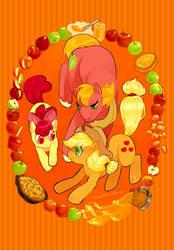 Apple Family by Kirokokori