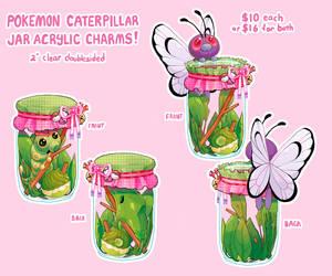 Caterpie Jar Charms by Kirokokori