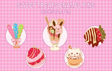 Sweet Treats Enamel Pins by Kirokokori