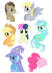 Pocket Pony Cutouts PART TWO by OceanBreezeBrony