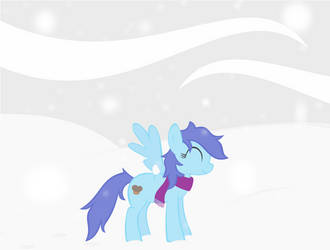 Blueberry In Snow by OceanBreezeBrony