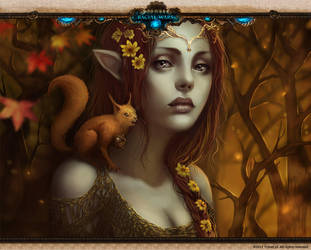 Racial Wars: Nature Elf:Autumn by telthona