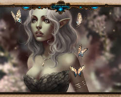 Racial Wars: Nature Elf:Spring by telthona