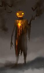 Halloween Mr Pumpkin by telthona