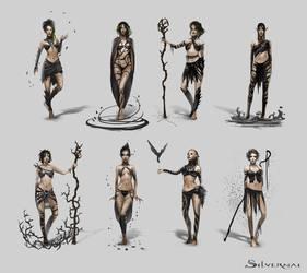 Silvernai: Inari Concept Art 2 by telthona