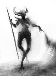 Demon sketch by telthona