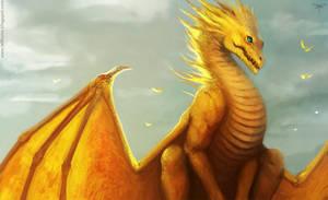 Golden dragon by telthona