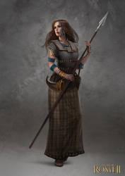 Total War: Rome II - Inceni Female Champion by telthona