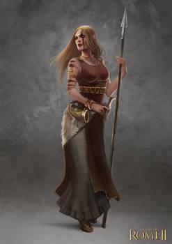Total War: Rome II - Germanic Female Champion by telthona