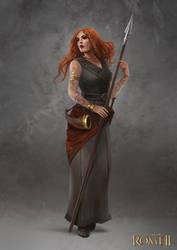 Total War: Rome II - Gaul Female Champion by telthona