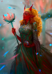 Lilac Priestess by telthona