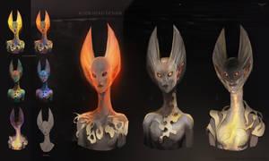 Alien Head Design by telthona