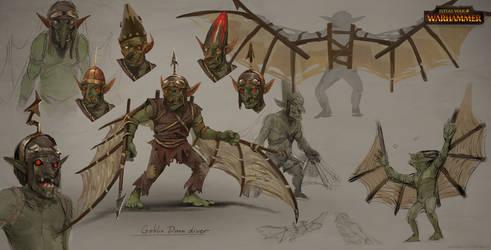 Total War: Warhammer Concept Art Goblin Doom Diver by telthona