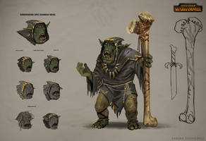 Total War: Warhammer Concept Art Orc Shaman by telthona