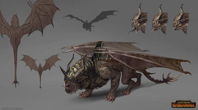 Total War: Warhammer Concept Art Manticore by telthona