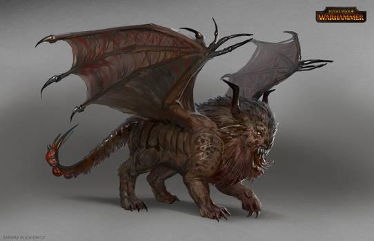 Total War: Warhammer Concept Art Manticore sketch by telthona