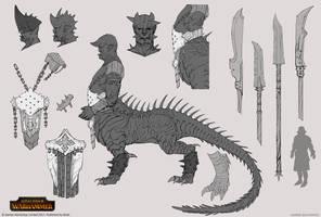 Total War: Warhammer - Dragon Ogre by telthona