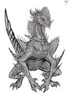 Aquatic dragon by telthona