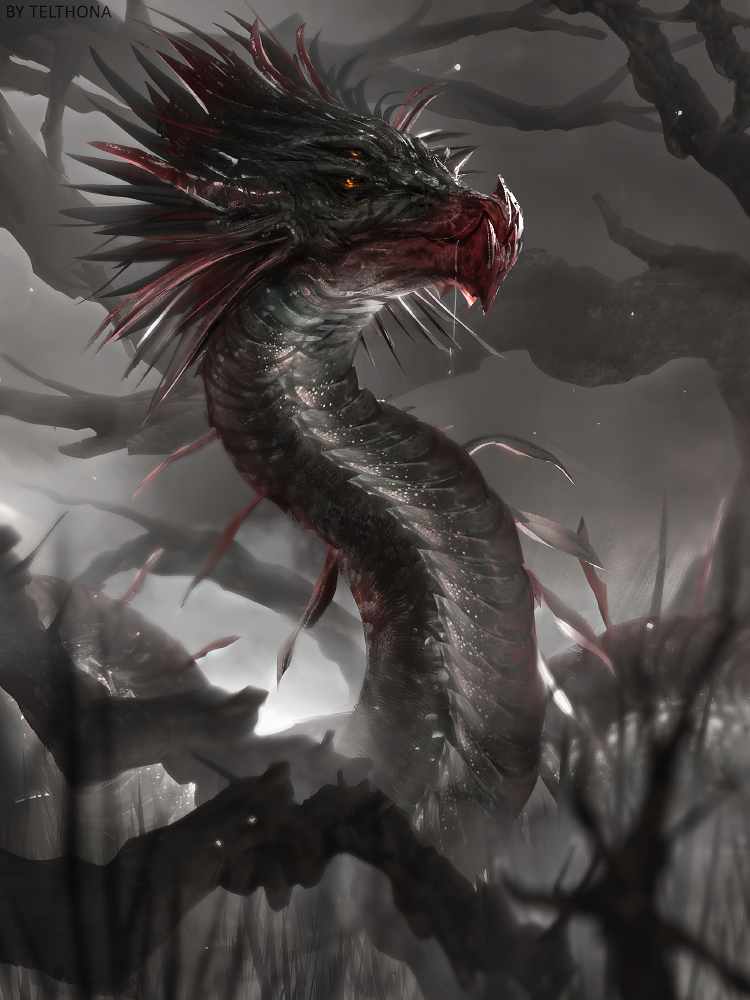 Swamp Serpent by telthona